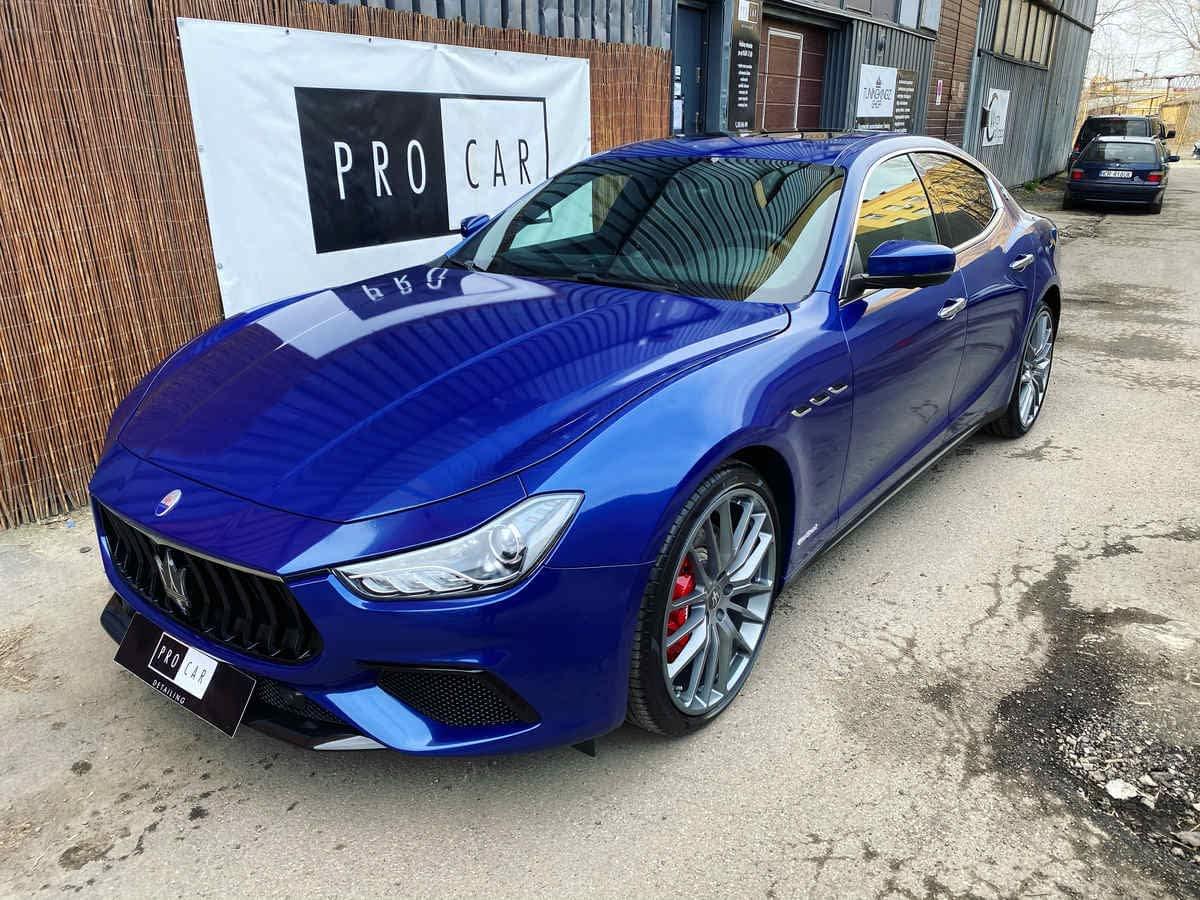 Maserati Ghibli - zabezpieczenie folii ochronnych dedykowaną powłoką ceramiczną 1