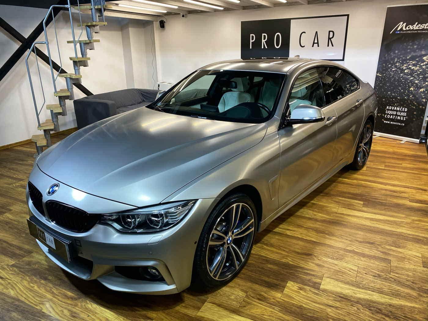 BMW serii 4 - kompleksowe czyszczenie i zabezpieczenie woskiem i powłokami 1