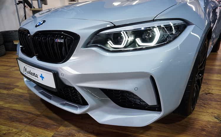 BMW M2 Competition – Hockenheim Silver – piękny kolor zabezpieczony na lata powłoką ceramiczną Modesty